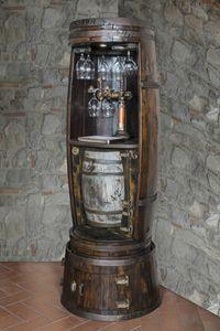 Art. 651, Barrel en forma de barra de vino con gabinete, con titular de la botella