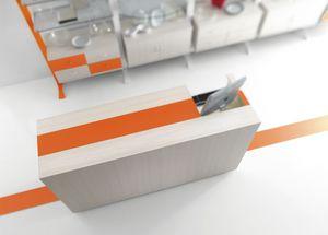 Contemporary - mostrador caja para tiendas de hogar, Contador de efectivo para tienda, con diseño esencial