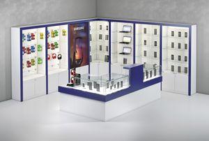 COM/QF10, Mostrador para tiendas de electrónica con ventanas