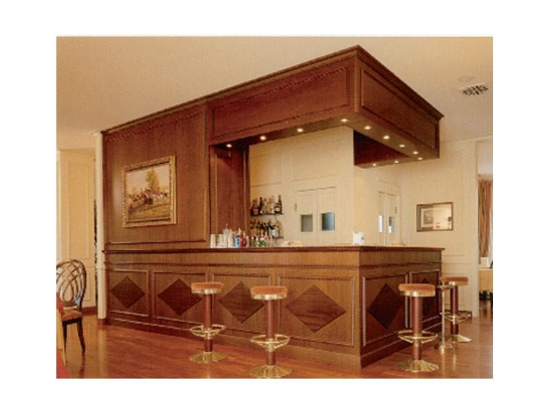 Regency Hotel, Barra de bar con estilo, paneles de madera decorada, por encargo