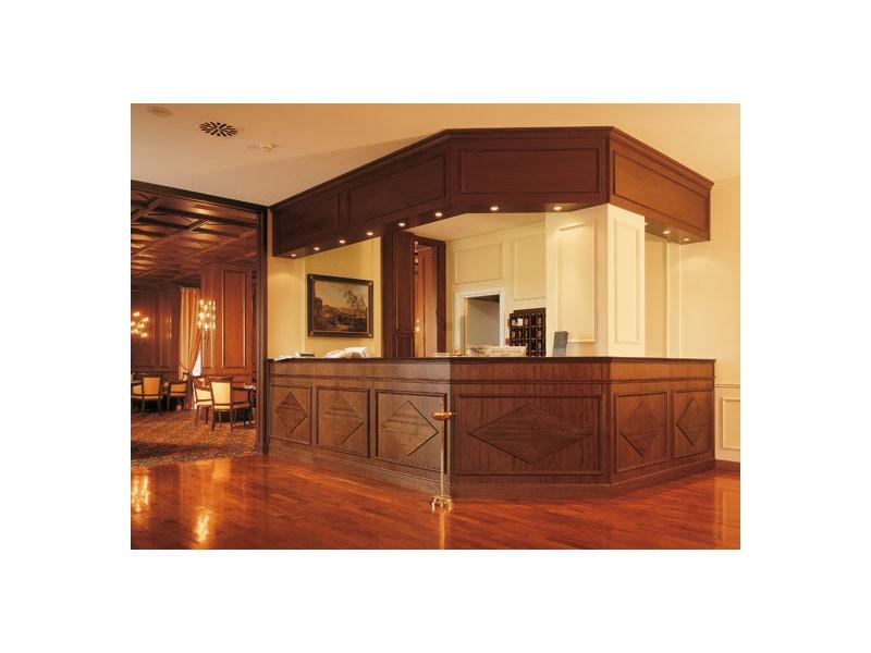 Regency Hotel Reception, Mostrador de recepción para hoteles, muebles de artesanía