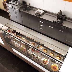 Revolución: contadores y mostradores de respaldo para panaderías y cafeterías, Contadores con unidad de visualización refrigerada o calentada