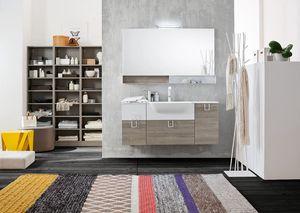 Byte 2.0 comp.02, Mueble de baño con espejo y estantería