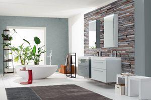 Byte 2.0 comp.03, Mueble de baño con cajones con mango