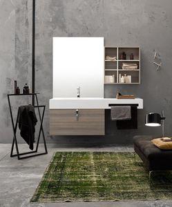 Byte 2.0 comp.04, Mueble de baño de pared con estantes de almacenamiento