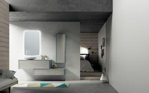 Dress 2.0 comp.02, Unidad de baño modular con unidades de pared