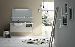 Dress 2.0 comp.08, Mueble de baño con espejo y estante