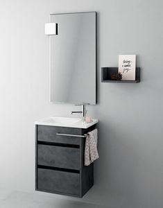 Duetto comp.15, Gabinete de baño que ahorra espacio, estilo moderno