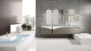 FLY 06, Muebles completos para baño con unidades de pared abierta
