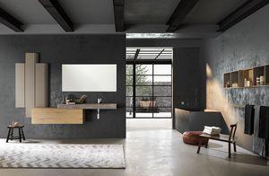 Lime 1.0 comp.01, Mueble de baño con diseño esencial