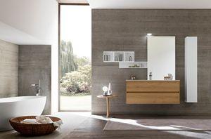 Lime 2.0 comp.12, Armario de baño moderno, con pequeñas dimensiones