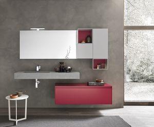 Lime 2.0 comp.18, Mueble de baño con elementos de almacenamiento