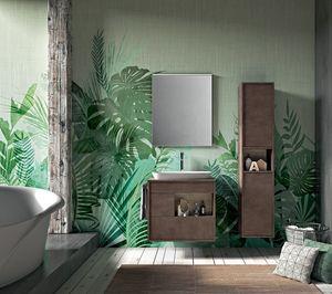 Lume comp.08, Muebles de baño de roble con cajones