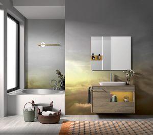 Lume comp.10, Composición del baño con lavabo y bañera