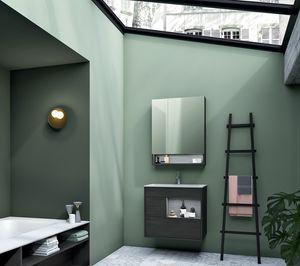 Lume comp.12, Mueble de baño en madera, estilo moderno