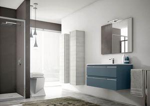 Mistral comp.04, Muebles de baño modernos, con columnas de almacenamiento