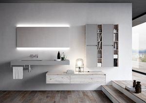 Nyù comp.14, Mueble de baño con cajones espaciosos