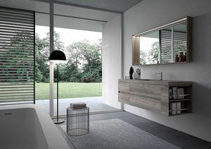 Ny� comp.15, Minimal gabinete de ba�o, con espejo y luz led