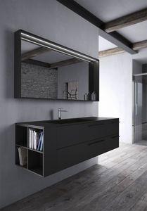 Sense comp.03, Muebles de baño en negro Fenix