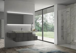 Sense comp.07, Muebles de baño con espejo retroiluminado
