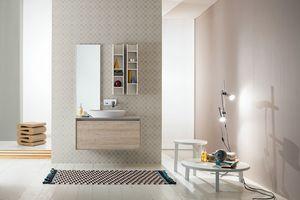 Summit 2.0 comp.02, Composición del baño con muebles de pared