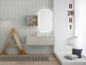 Summit 2.0 comp.03, Mueble de baño con acabado pulido