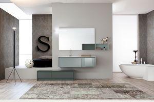 Tender comp.02, Composición de muebles de baño de estilo moderno
