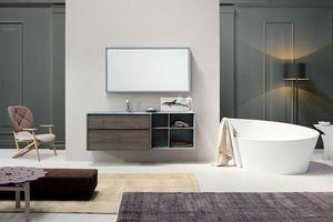 Tender comp.03, Mueble de baño con cajones de apertura push-pull