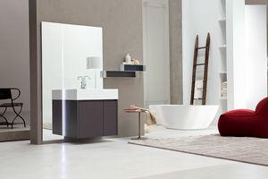 Tender comp.05, Muebles de baño monobloque con espejo