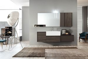 Tender comp.07, Mueble de baño con cajones y puerta