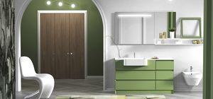 Torana TR 020, Mueble de ba�o verde, con cajones