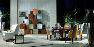 LB18-A Mondrian, Muebles modulares en madera de roble, para salones clásicos