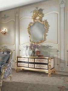 Nobile-D gabinete, Mueble clásico en ébano negro.
