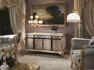 Nobile-G gabinete, Muebles de salón de estilo clásico.
