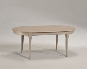 TOFEE small table 8179T, Mesa de centro ovalada de madera maciza, de estilo clásico