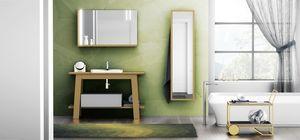 Bath Table 05, Mueble de ba�o, con espejo y estante