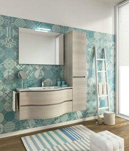 BROADWAY B15, Mueble bajo lavabo simple suspendido con cajones