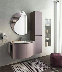 BROADWAY B8, Mueble bajo lavabo simple suspendido con puertas