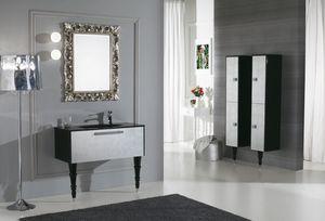 DECÒ D11, Mueble bajo lavabo lacado con cajones.