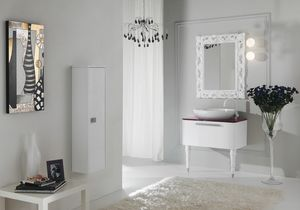 DECÒ D15, Mueble bajo lavabo lacado con cajones.