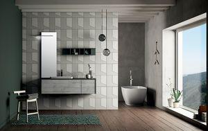 Dress 2.0 comp.06, Composición del baño con espejo retroiluminado