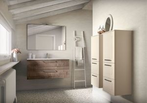 Dressy comp.02, Mueble de ba�o de pared con lavabo integrado