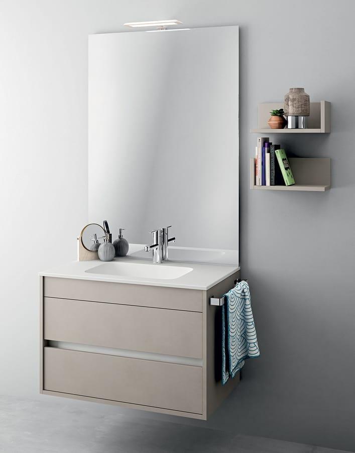 Muebles monobloque con espejo para baños pequeños IDFdesign