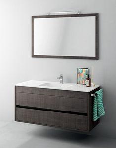 Duetto comp.12, Mueble de baño pequeño, con espejo