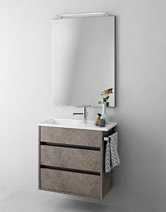 Duetto comp.17, Mueble de baño con cajones que ahorra espacio