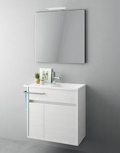 Duetto comp.18, Muebles ahorradores de espacio para baños pequeños