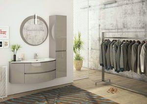 FREEDOM 04, Mueble bajo lavabo simple suspendido en HPL con armario