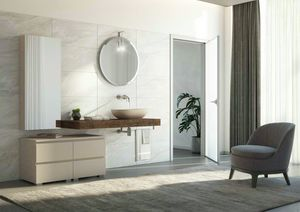 FREEDOM 25, Mueble bajo lavabo simple de piña con toallero