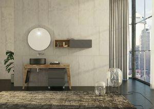 FREEDOM 32, Mueble bajo lavabo simple suspendido de pared con toallero
