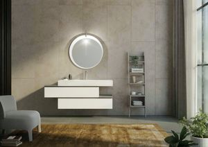 FREEDOM 34, Mueble bajo lavabo simple suspendido con cajones